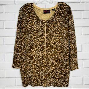 NEWish Torrid cardigan leopard print brown